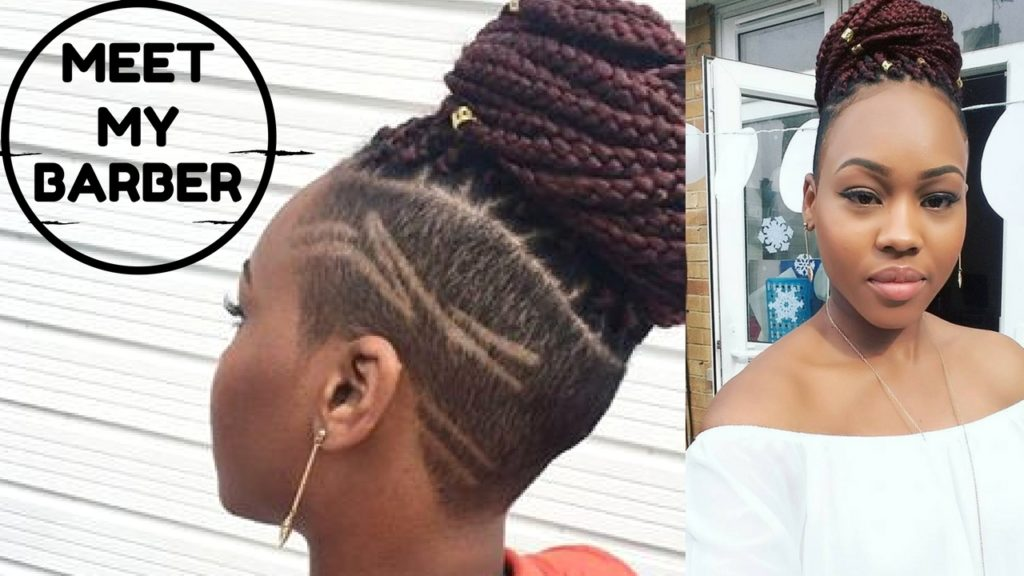 Meet My Barber! Box braids with Shaved sides on Natural Hair