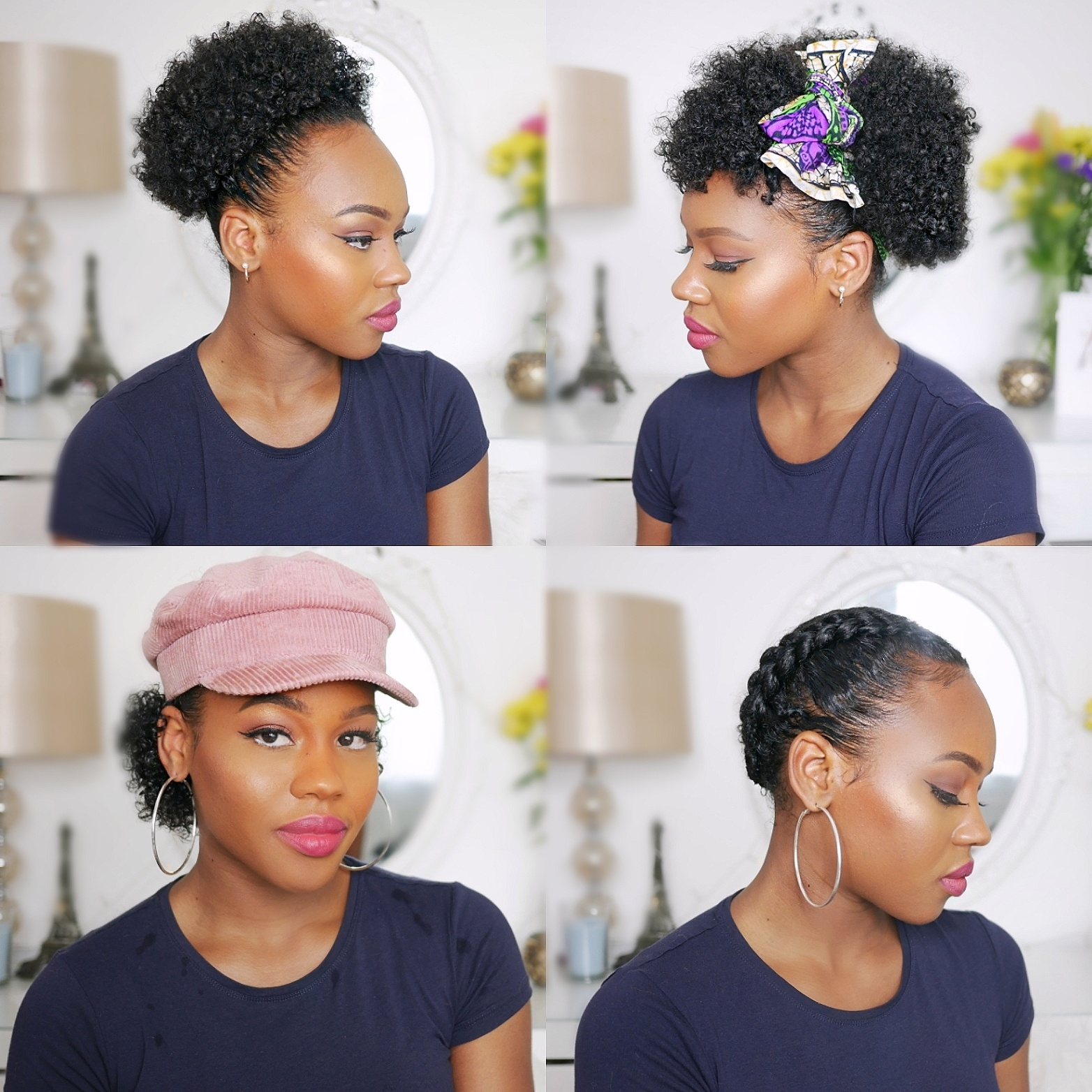 MY 5 GO TO STYLES FOR SHORT NATURAL HAIR Queen Teshna