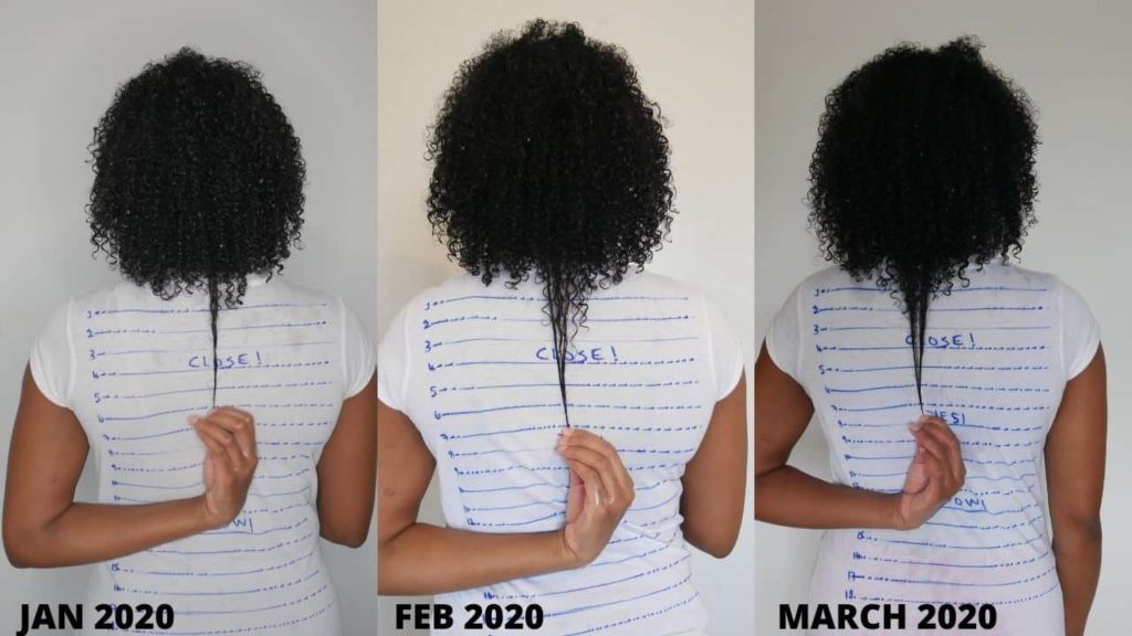 length check to track my hair growth