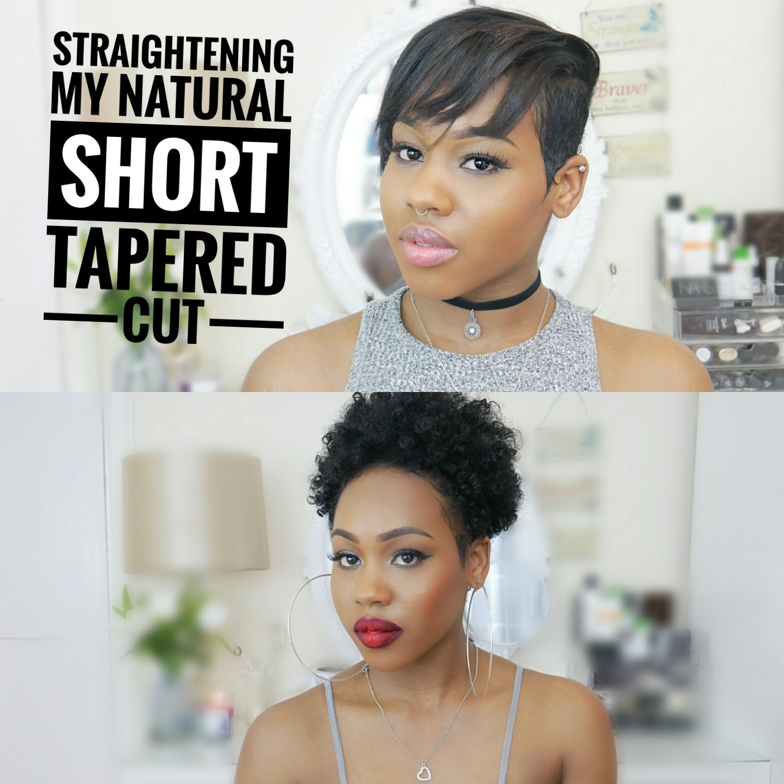 Curly to straight! How I straighten my Short Tapered cut