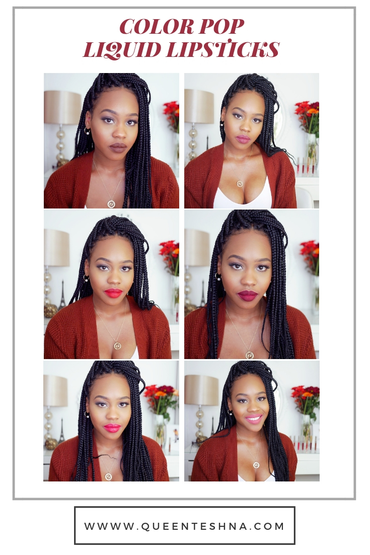 Color pop liquid lipstick on brown skin. Review and first Impression.