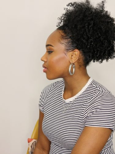 How To Sleek High Puff On 3C 4A Natural Hair