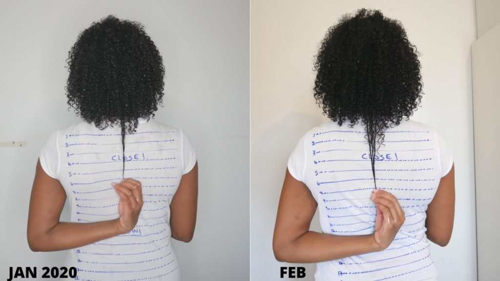 Queenteshna 2020 hair growth challenge length check