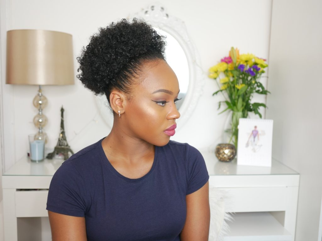 How To Sleek High Puff On 3c 4a Natural Hair Queen Teshna