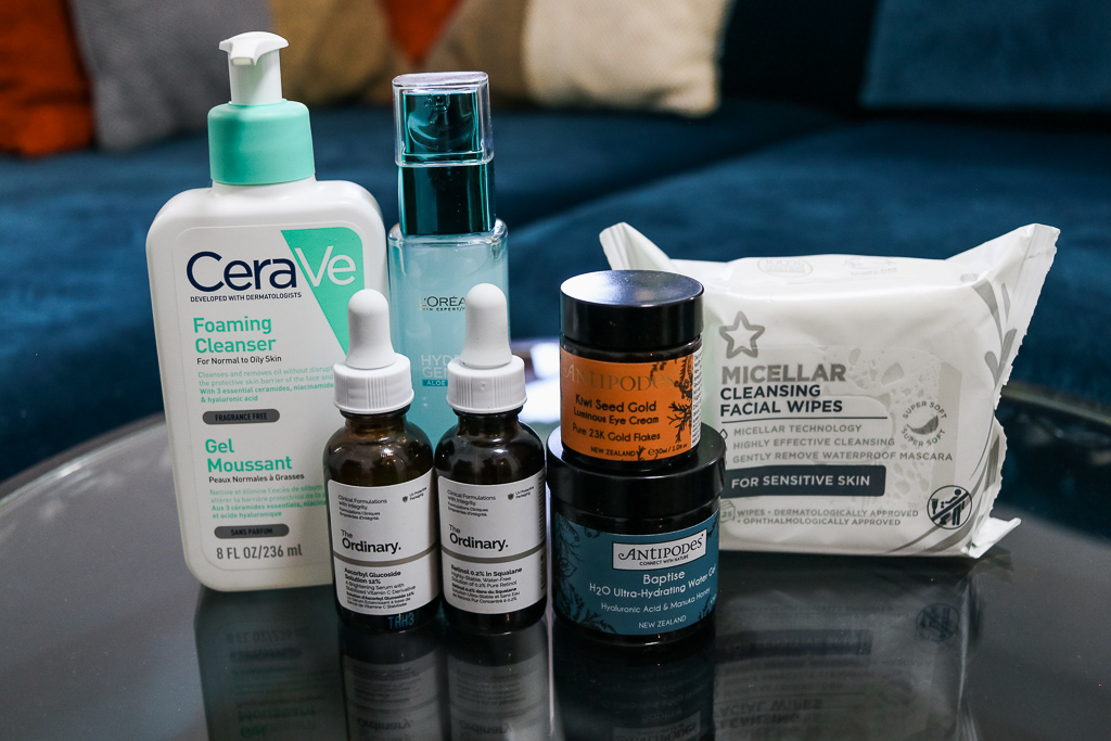 Products to build a skin care routine